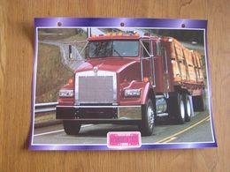 KENWORTH  T 800 1996  USA Trucks Trailers Transport Fiche Descriptive Camion Truck Camions - Autres