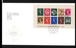 Great Britain FDC 2002 The Wilding Definitives Souvenir Sheet (NB**LAR9-142) - 2001-2010 Em. Décimales