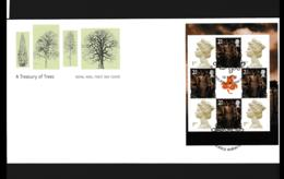 Great Britain FDC 2000 A Treasury Of Trees Booklet Pane (NB**LAR9-142) - FDC