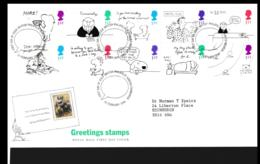 Great Britain FDC 1996 Greetings Stamps  (NB**LAR9-142) - FDC