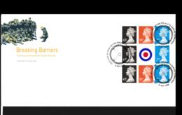 Great Britain FDC 1998 Breaking Barriers Booklet Pane (NB**LAR9-142) - FDC