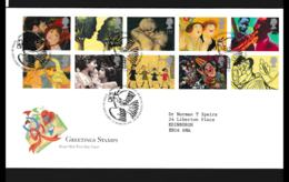 Great Britain FDC 1995 Greetings Stamps  (NB**LAR9-142) - FDC