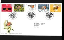 Great Britain FDC 1995 Christmas Robins (NB**LAR9-142) - FDC