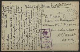 CP En Franchise, Expédiée De L'hotel Majestic (Paris) Lors De La Conférence De La Paix (fin 1918 Début 1919), B - 1914-18