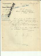 58 - Nièvre - Les Berlins Près De La Charité - Facture Edouard Robillot - Charron - 1908 - Réf 43 - - France