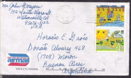 USA - Lettre - 1998 - Stamps Ecologie - Recyclage - To Argentine - Cygnus - Protezione Dell'Ambiente & Clima