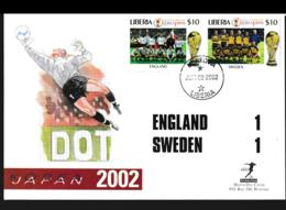 Liberia Cover 2002 FIFA World Cup Football In Japan/Korea - England-Sweden 1:1 (NB**LAR9-142) - Coupe Du Monde