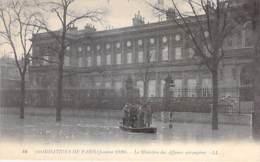 75 - PARIS 7 ° - INONDATIONS De PARIS ( Janvier 1910 ) Le MINISTERE Des AFFAIRES ETRANGERES Quai D'Orsay - CPA - Seine - De Overstroming Van 1910