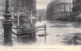 75 - PARIS 8 ° - INONDATIONS De PARIS ( Janvier 1910 ) A La GARE Saint LAZARE - CPA - Seine - De Overstroming Van 1910