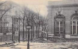 75 - PARIS 7 ° - INONDATIONS De PARIS ( Janvier 1910 ) CRUE DE LA SEINE Rue De Constantine / Gare Des Invalides - CPA - De Overstroming Van 1910