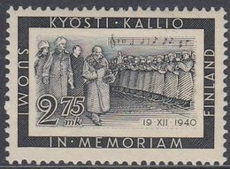 Finland 1941 - In Memory Of President Kallio, Orchestra, Music - Mi 237 ** MNH - Finland