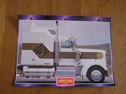 KENWORTH  W 900 007 Limited James Bond 1990   USA Trucks Trailers Transport Fiche Descriptive Camion Truck Camions - Autres
