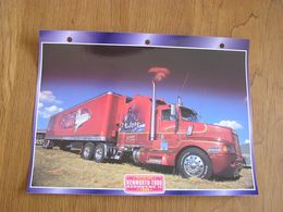 KENWORTH  T 600 Aérodyne II 1989   USA Trucks Trailers Transport Fiche Descriptive Camion Truck Camions - Autres