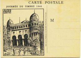 2392 - Alger - JOURNEE DU TIMBRE - Illust. BLADINIERES 2.2.46 - ALGER Grande Poste -  Non Circulée RARE - Algérie