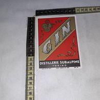 TL0253 DISTILLERIE SUBALPINE GIGALB TORINO GIN - Etiquettes