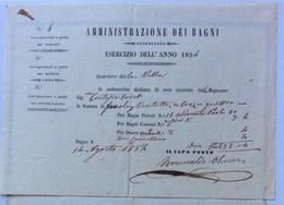 BAGNI DI LUCCA TERME - QUARTIERE DELLA VILLA - RIVUTA BAGNI CONTESSA ORSETTI  IN DATA  14 AGOSTO 1854 - Italie