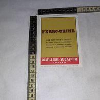 TL0254 DISTILLERIE SUBALPINE GIGALB TORINO FERRO CHINA ELISIR TONICO - Etiquettes