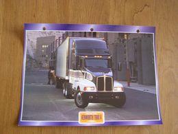 KENWORTH  T 600 A 1989  USA Trucks Trailers Transport Fiche Descriptive Camion Truck Camions - Autres