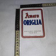 TL0255 DISTILLERIE SUBALPINE GIGALB TORINO AMARO ORIGLIA - Etiquettes