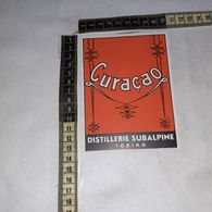 TL0256 DISTILLERIE SUBALPINE GIGALB TORINO CURACAO - Etiquettes