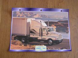 KENWORTH  T 600 A 1985  USA Trucks Trailers Transport Fiche Descriptive Camion Truck Camions - Autres
