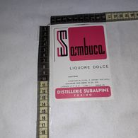 TL0256 DISTILLERIE SUBALPINE GIGALB TORINO SAMBUCA LIQUORE DOLCE - Etiquettes