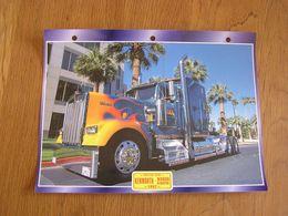KENWORTH  W 900 B Aérodyne 1982  USA Trucks Trailers Transport Fiche Descriptive Camion Truck Camions - Autres