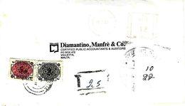 Malta 1986 Valletta Handstamp Manchester Postage Due 5m 2c Underfranked Cover - Malte
