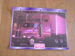 KENWORTH  T 600 B 72 Inch Aérocab 1982 USA Trucks Trailers Transport Fiche Descriptive Camion Truck Camions - Autres