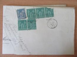 Lettre / Recommandé 1884 - 6 Timbres Sage 5c Et 15c N°75 Et 90 - Pontarlier Vers Morteau - Marcophilie (Lettres)