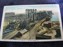 C.P.A.- Amérique - Etats Unis - Newport News - The C.& O Ry - Co's New Coal Pier N° 9 - 1923 - SUP - (DI 59) - Newport News