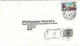 Malta 1987 Rabat Valletta Handstamp Postage Due 2c Underfranked Domestic Cover - Malte