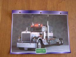 KENWORTH  W 900 1978 USA Trucks Trailers Transport Fiche Descriptive Camion Truck Camions - Autres
