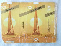 Paquet De Cigarettes Vide Cigarrettes Package Chesterfield 101 USA #14 - Empty Cigarettes Boxes