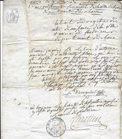 CONDRIEU EXTRAIT D ACTE DE NAISSANCE DE 1806 POUR ETIENNE JACQUIER NE EN 1787 FILS DE ANTOINE MARINIER ANTOINETTE BLANC - Historical Documents