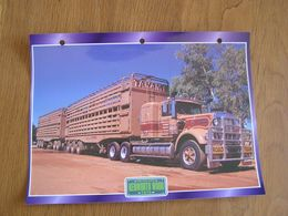KENWORTH  W 900 1975  USA Trucks Trailers Transport Fiche Descriptive Camion Truck Camions - Autres