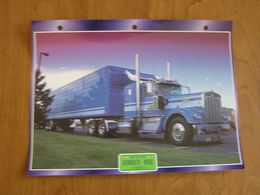 KENWORTH  W 900 1973  USA Trucks Trailers Transport Fiche Descriptive Camion Truck Camions - Autres