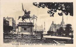 ARGENTINA Argentine - BUENOS AIRES : PLAZA MAYO - Monumento A Belgrano - CPSM Photo PF 1928 - South America Amérique - Argentine