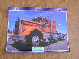 KENWORTH  W 900 1964  USA Trucks Trailers Transport Fiche Descriptive Camion Truck Camions - Autres