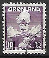 GROENLAND    -   1938  .  Y&T N° 4 Oblitéré.    Christian X. - Groenland