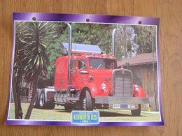 KENWORTH  925 1955 USA Trucks Trailers Transport Fiche Descriptive Camion Truck Camions - Autres