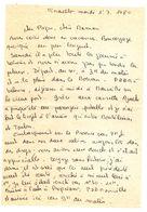 Lettre Manuscrite 1980 Papa Maman Famille Pinarello Morvan Marseille Montelimar Toulon Provence Bavella - Manuscrits