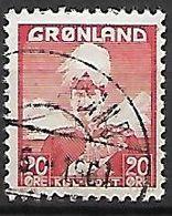 GROENLAND    -   1938  .  Y&T N° 6 Oblitéré.    Christian X. - Groenland