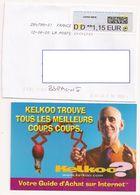 FRANCE, Sobre Codigo IRQ + Postal Kelkoo - France