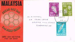 36912. Carta JOHORE (Malaysia) 1965. 3º SEAP Games. Deportes, Sport - Malaysia (1964-...)