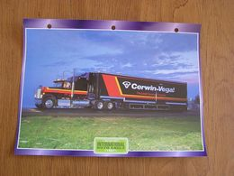 INTERNATIONAL  9370  Eagle 1987 USA Trucks Trailers Transport Fiche Descriptive Camion Truck Camions - Autres