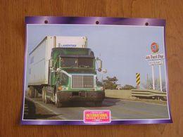 INTERNATIONAL  9400  Eagle 1992  USA Trucks Trailers Transport Fiche Descriptive Camion Truck Camions - Autres