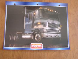 INTERNATIONAL  CO 9670  Eagle 1980  USA Trucks Trailers Transport Fiche Descriptive Camion Truck Camions - Autres