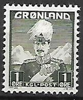 GROENLAND    -   1938  .  Y&T N° 1 **.    Christian X. - Groenland