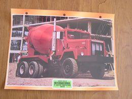 INTERNATIONAL  F 5070 Paystar 1972  USA Trucks Trailers Transport Fiche Descriptive Camion Truck Camions - Autres